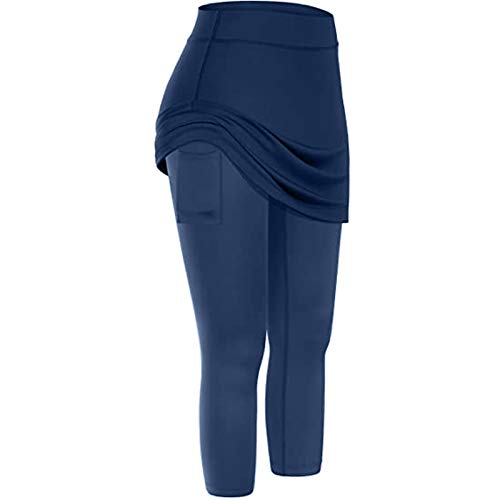 Yoga Pants for Women High Waisted Breathable Comfort Loose Wide Leg Floral Yoga Pant Navy