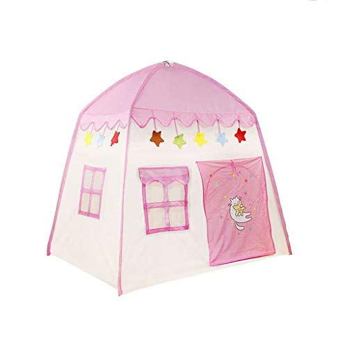 CSQ Kids Play Tent, Baby's Crawling Tent Infant Game Tent Children's Learning to Read Tent House/Storage Bag Design Children's play house (Color : Pink, Size : 130 * 100 * 130CM)
