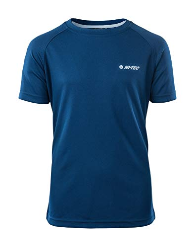 Hi-Tec Jungen GOGGI JR Funktions T-Shirt, Poseidon/Sterling Blue, 164