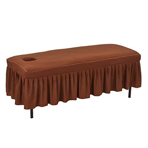 マッサージベッドカバー DX2 (綿・有孔) ブラウン 長さ180〜190×幅65〜75×厚さ約9〜12cm [ ベッドカバー ベッドシート ベッドシーツ ベットカバー ベットシート ベットシーツ マッサージ 整体 ベッド カバー シーツ シート エステ