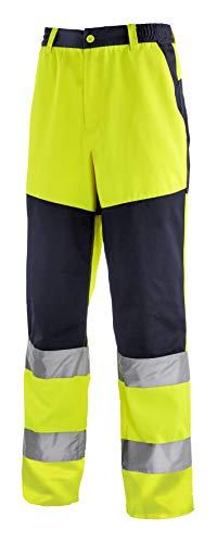 teXXor 4356-98 Warnschutz-Bundhose Rochester, Warngelb/marineblau, Größe 98