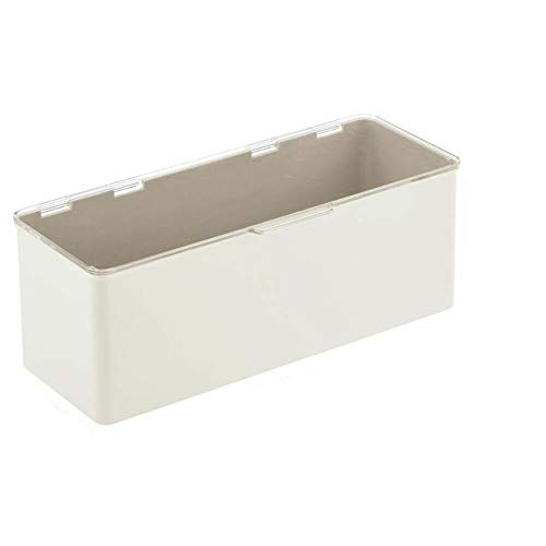 ART OF FIRE Stackable Plastic Kitchen Food Storage Bin Box - 2 Pack - Cream