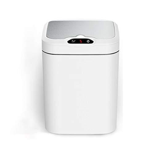 ffshop Cubo de Basura Sensor Smart Sensor Puede Oficina Casa Sala de Estar Creativa con Tapa Baño Basura Cocina Aseo Aseo Automático Batería Grande Fuente de alimentación Cubo de la Basura