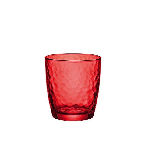 Bormioli Rocco Christmas Set Servizio Calici e Bicchieri, Trasparente/Rosso, 12 unità
