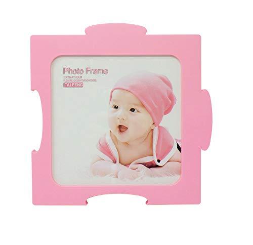 Puzzle de Marco de Fotos Composable con Otras Piezas de Pared/Escritorio CREA tu Marco de Fotos Ideal! (S36057) (Color: Rosa)