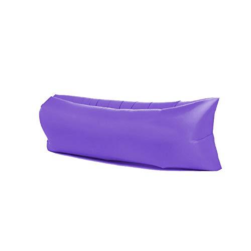 Sofá inflable perezoso saco de dormir, cama inflable, sofá de aire plegable rápido, playa para acampar al aire libre, para adultos, niños, mujeres, hombres al aire libre, camping, senderismo, mochil
