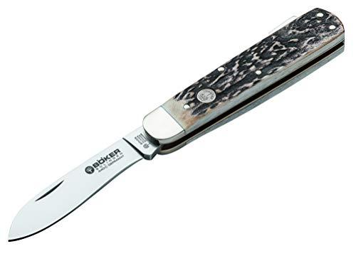 Boker Tree Brand Genuine Deer Stag Lockback Hunter Stainless Pocket Knife Knives