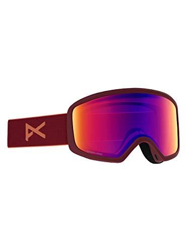 Anon Damen Deringer Snowboard Brille, Ruby/Sonar Infrared Blue