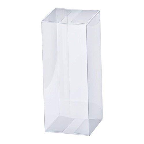 井上紙業 ギフトボックス 透明 PN12-1 [100枚×1セット/業務用] W120×D120×H250 (クリアケース/キャラメル箱/ラッピングボックス)