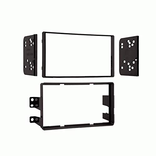 Carxtc Double Din Install Car Stereo Dash Kit for a Aftermarket Radio Fits 2008-2015 Nissan Titan S Trim, A.K.A. Base Model Trim Bezel is Black