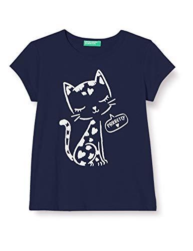 United Colors of Benetton Mädchen T-Shirt Pullunder, Blau (Peacoat 252), 104 (Herstellergröße: XX)