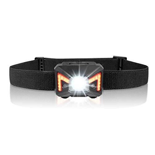 Opard LED Strinlampe Wiederaufladbare Kopflampe USB Kopfleuchten 5 Lichtmodi Wasserdicht Perfekt für Camping, Joggen, Spazieren, Angeln, Abenteuer, Bergsteigen usw.