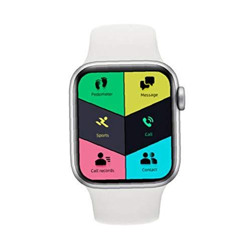 Ohomr Inteligente Venda de Reloj del teléfono SmartWatch de Llamadas del teléfono del Reloj AK76 Bluetooth Llamada Monitor de Ritmo cardíaco Blanca