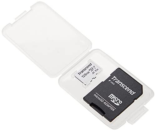 Transcend Highspeed 128GB micro SDXC/SDHC Speicherkarte (für Smartphones, etc. und Digitalkameras) / 4K, U3, V30, A1, UHS-I – TS128GUSD300S-AE (mit Adapter, umweltfreundliche Verpackung)
