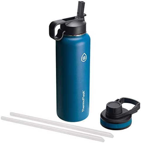 Thermoflask Double Stainless Steel Insulated Water Bottle 40 oz Cobalt product image