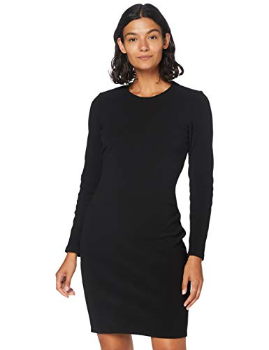 BOSS Damen Derdress Kleid, Schwarz (Black 1), Large