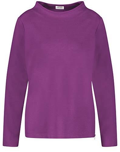 Gerry Weber Damen Sweatshirt mit Lift Up Kragen leger Beere 46