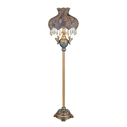 Lámparas de pie para salón Lámpara de pie con perlas Colgantes de cristal Adecuado para uso de sala de estar Lámpara de lectura de piso para dormitorio y decoración del hogar Lámparas de pie para saló