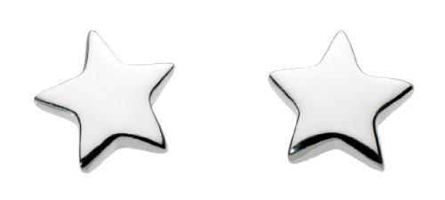 Dew Women's Solid Star Sterling Silver Stud Earrings