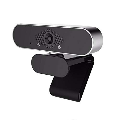Inicio Webcam HD 1080p Cámara Web USB PC Cámara Web de Computadora con Micrófono, Cámara de Escritorio para Computadora Portátil Cámara Web de Video Pantalla Panorámica con Trípode