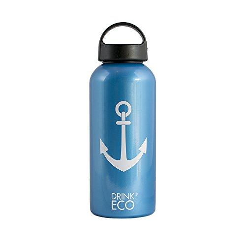 Alusport Bottles Drink Eco Sailor Bouteille Sport, Mixte Adulte, Bleu, L