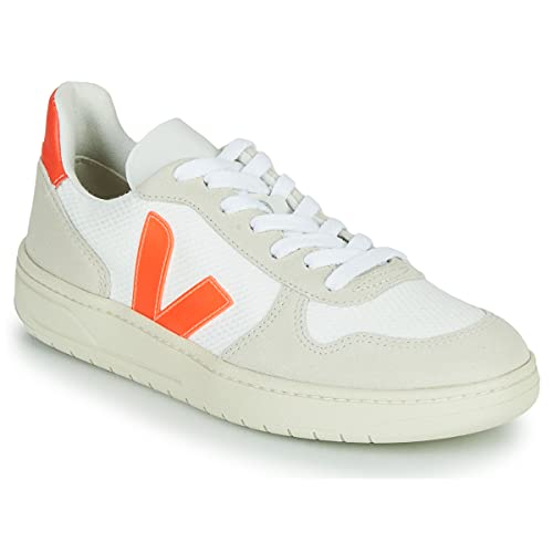 Veja V-10 B Mesh White Natural Orange Fluo, weiß, 43 EU