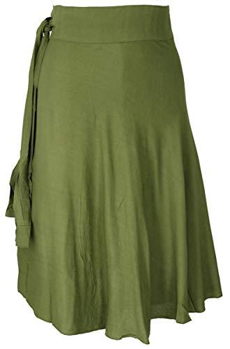 GURU SHOP Leichter Wickelrock, Sommerrock, Damen, Lemon, Synthetisch, Size:One Size, Röcke/Kurz Alternative Bekleidung