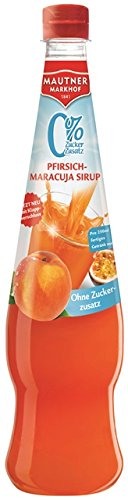 Mautner Markhof Pfirsich-Maracuja 0% Zucker Sirup