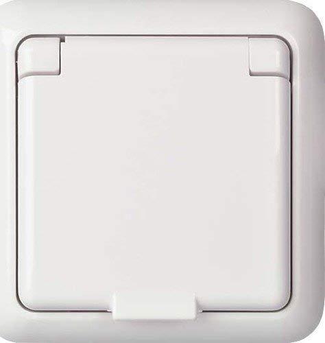 Elso, Presa con protezione anti-contatto IP44Fab, bianco, 225044 2 Stück Steckdose