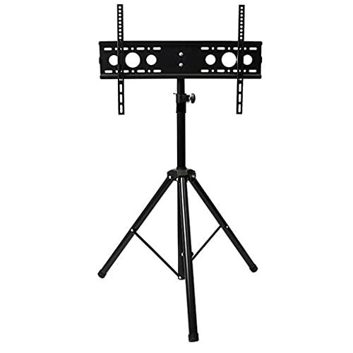 Mix Buzsu Arıtma TELEVISOR Trípode TELEVISOR Soporte móvil TELEVISOR Carro Trolly, Altura de inclinación giratoria Ajustable con Soporte de Soporte for 32'-65' Plana y curvedtv (Color : Black)
