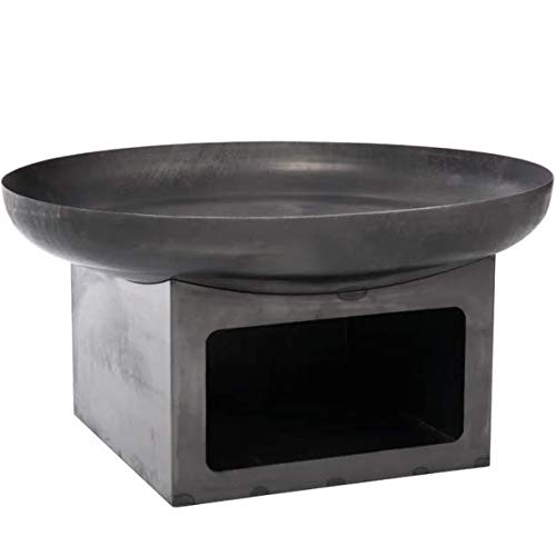 Sol 72 Outdoor Round Wood Burning Fire Pit With Square Stand