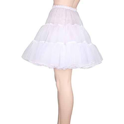 LUOEM Petticoat Rock Röckchen Tutu Petticoat Rock Kleid- XL, Weiß