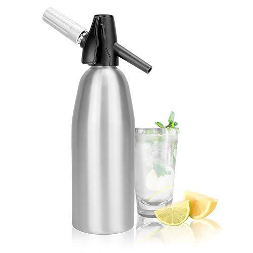 Sifón de soda de aluminio 1L | Máquina de refrescos | Sifón de refrescos | Dispensador de agua carbonatada | M&W