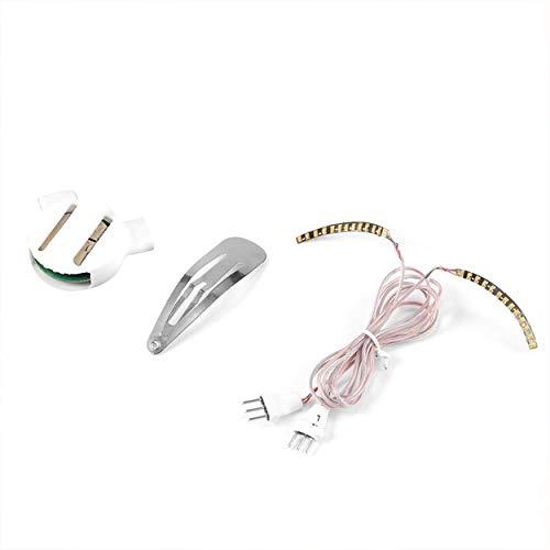Lorenlli 1 paire LED cils faux cils maquillage étanche cils légers avec contrôleur pinces à cheveux vacances fête Pub Club Bar