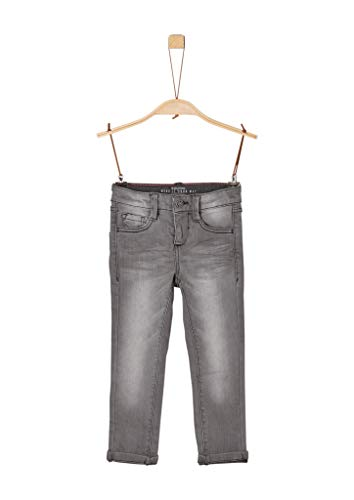 s.Oliver Junior Jungen 74.899.71.0530 Jeans, Schwarz (Grey/Black Denim Stretch 96z2), 116 (Herstellergröße: 116/REG)