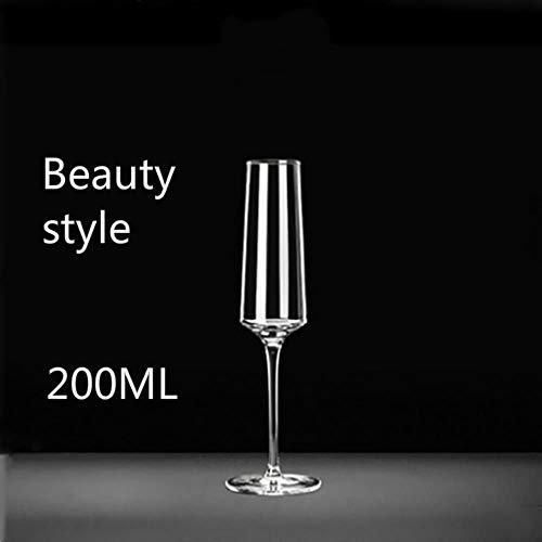 100-200ml beker champagne glas loodvrije kristal glas glas kopje zoete wijn glas mousserende wijn glas bar familie drinken glas Kleur: wit