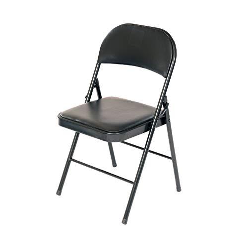 Oypla Heavy Duty Padded Folding Metal Desk Office Chair Seat