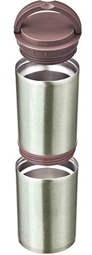 丸辰(Marutatsu) 缶・ペットボトル を 保冷 保温 真空二層 ステンレスポット グレー (500ml缶・Petボトル・350ml缶×2入る。) mt