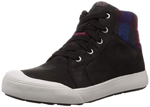 KEEN New Women's Elena Mid Sneaker Black Plaid 7.5