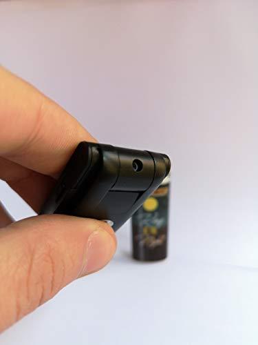 Microspia telecamera nascosta professionale girevole 90 GRADI, qualità FULL HD, attivazione per movimento e continua, microregistratore audio 16Gb INCLUSA espandibile, batteria lunga durata PC e MAC