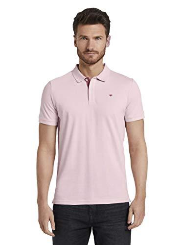 TOM TAILOR Herren Poloshirts Basic Poloshirt Baby pink,M