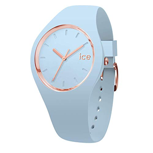 Ice-Watch - ICE glam pastel Lotus - Blaue Damenuhr mit Silikonarmband - 001067 (Medium)