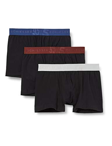 Schiesser Herren Boxershorts anliegendes Bein (3er Pack), Sortiert 3, 6