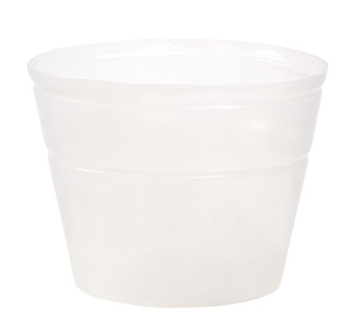 Dehner–Pieza insertada para macetero, Flexible, diámetro 60cm, Altura 46cm, plástico, Transparente