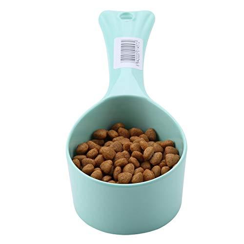 Gedourain Cuchara de Comida para Mascotas, diseño de Cola de Pescado, Cocina, medición cuantitativa, Cuchara de alimentación, Taza de plástico Resistente Perros y Gatos
