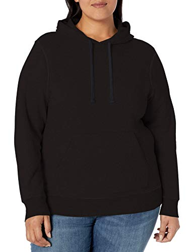Amazon Essentials Plus Size French Terry Fleece Pullover fashion-hoodies, schwarz, 1X