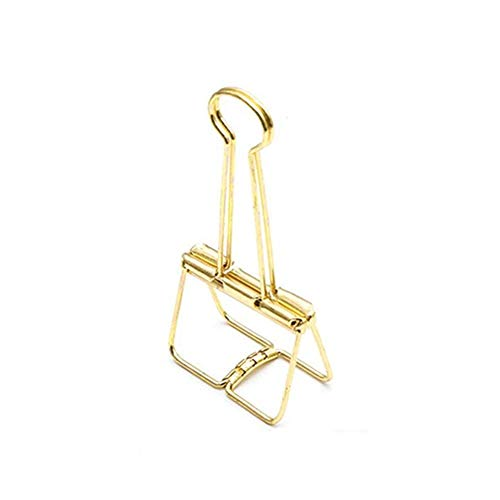 Small Hollow Metal Binder Clips Large Golden Fish Small Fresh Student with a Clip Stationery (Colore : NO.3)