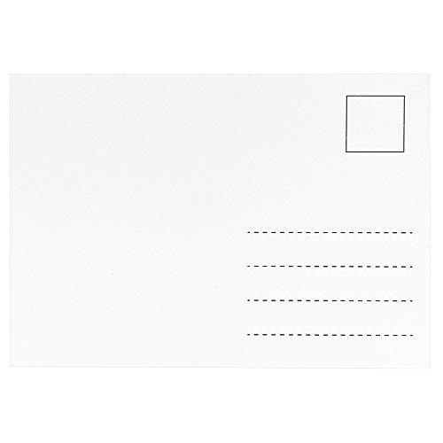 100 Blanko-Postkarten, weiß | Din A6, 10,5cm x 14,8cm | bedruckbar | stabile Ausführung, 300 g/m²