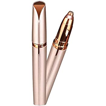Flawless Painless Electric Eyebrow Trimmer Facial Hair Remover (Rose Gold)
