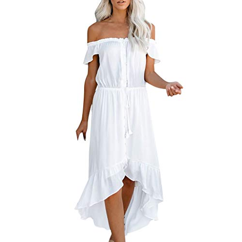 Damen Kleid Abendkleid Schulterfreies Cocktailkleid Jerseykleid Skaterkleid Hochzeit Elegant Festlich Partykleid glänzend und hoch geschnitten brautjungfernkleider Sonojie